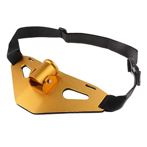 Flameer 90° Adjustable Padded Fishing Fighting Belt Offshore Tackle Boat Fishing Rod Holder - Gold