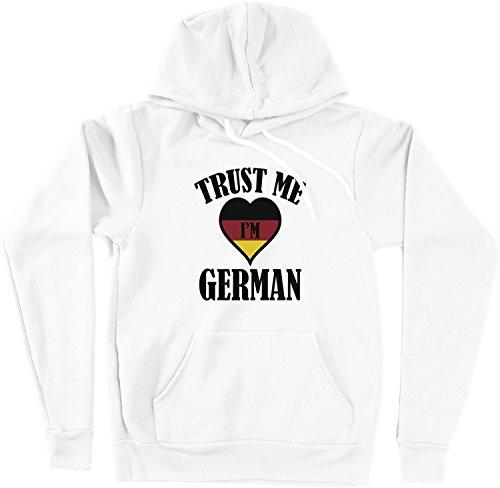 VectorPlanet Trust Me I'm German Unisex Hoodie, White S (Trust Me Im German)
