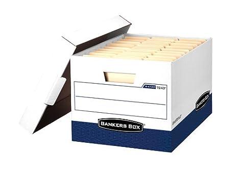 Amazon.com: Bankers Box R-Kive Max Caja de almacenamiento ...