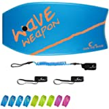 Own the Wave 'Wave Weapon' Bodyboard with Premium Leash and Fin Tethers, Lightweight with EPS Core