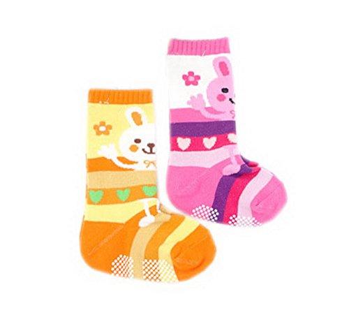 2 Packs Long Socks for Baby Girls Tube Socks 8-24 Months (Color may vary)
