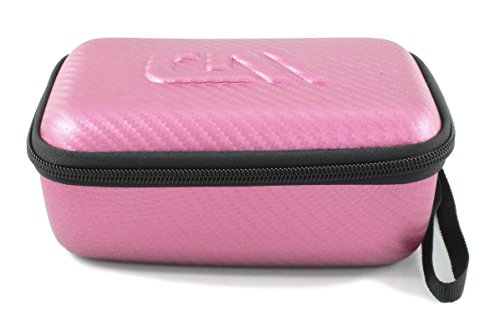 "CASEMATIX Pink Shaver and Epilator Case Fits Panasonic Shavers, Trimmers and Epilators under 6.5""- Holds Panasonic ES2207P, Panasonic ES2216PC, Panasonic ES-ED90-P and more Grooming Accessories"