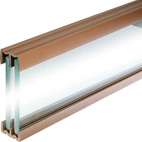 (Walnut Tone - 4 Foot Plastic Sliding Door Track)