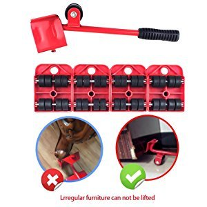 Furniture Lifter Easy Moving Sliders 5 Packs Mover Tool Set,Heavy Furniture Appliance Moving /& Lifting System Maximum Load Weight 330Lbs