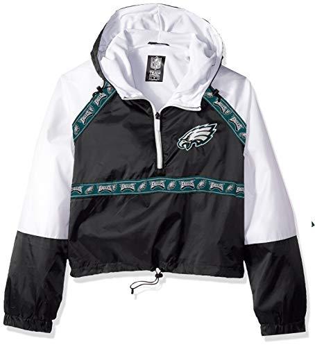ICER Brands Womens Quarter Zip Pullover Hoodie Windbreaker Jacket Packable White X-Large