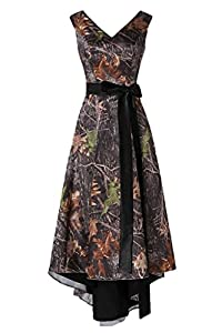 StarGuide Asymmetrical Camo Prom Dress Wedding Party Dress Hi-Lo Homecoming Gown MK73
