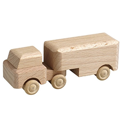 Rudolphs Schatzkiste Truck semitrailer unpainted one 7,5cm wood wood car ore mountains NEW (Wood Ore Car)
