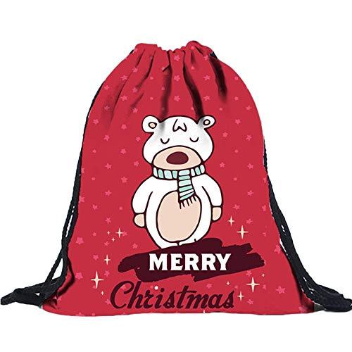 ✈ HYIRI Unisex 8D Digital Printing Draw Pocket Novelty Backpack Drawstring Bag Shoulder Bag from HYIRI