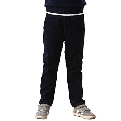 Navy Corduroy Trousers - 3