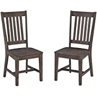 Home Styles Concrete Chic Dining Chair Pair