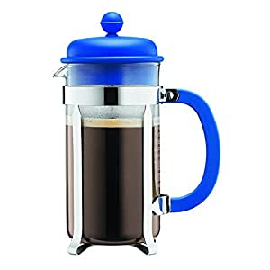 Bodum French Press Coffee Maker w/ Plastic Lid - Blue - 3 cup/0.35l/12oz
