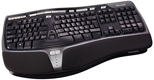 Microsoft B2M-00016 Natural Ergonomic 4000 Latin America Spanish Wired USB Keyboard, Black