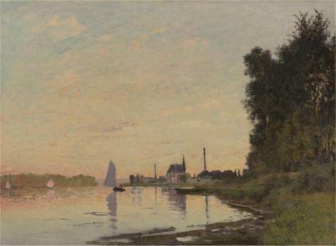 Oil Painting 'Claude Monet - Argenteuil, Late Afternoon, 1872' Printing On High Quality Polyster Canvas , 24x33 Inch / 61x83 Cm ,the Best Kitchen Decor And Home Gallery Art And Gifts Is This Reproductions Art Decorative Canvas Prints