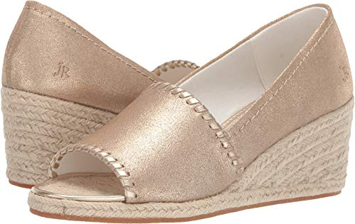 Jack Rogers Women's Palmer Espadrille Wedge Platinum for sale  Delivered anywhere in USA