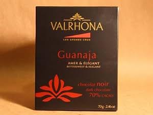 Valrhona - Le Grands Crus -70% Dark Chocolate - Guanaja Bar - Amber & Elegant - 2.46 ozs