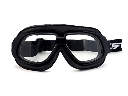 CRG Sports Vintage Aviator Pilot Style Motorcycle Cruiser Scooter Goggle T10 T10BCB - Parent