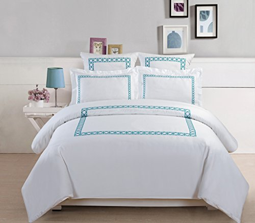5-Piece Hotel Collection 500 Thread Count Cotton Duvet Cover