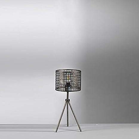 Onli Lampada Da Tavolo Abat Jour In Metallo Traforato Stile Urban Industriale Moderno Effetto Gabbia Base Treppiede Ideale Per Zona Giorno 1 X E14 Amazon It Illuminazione