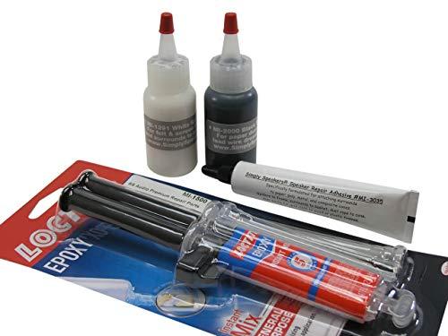 Speaker Repair Adhesive, Recone Kit Combo Pack, MI-COMBO (Best Glue For Speaker Repair)