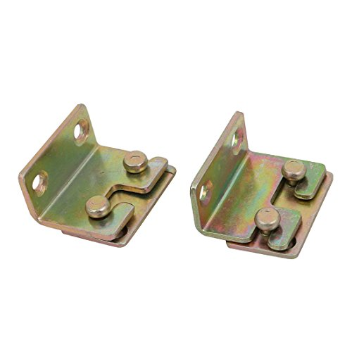Bronze Fixed Rail - uxcell 32mmx25mmx17mm Screw Fixed Bed Hinge Rail Brackets Connecting Fittings 2 Sets