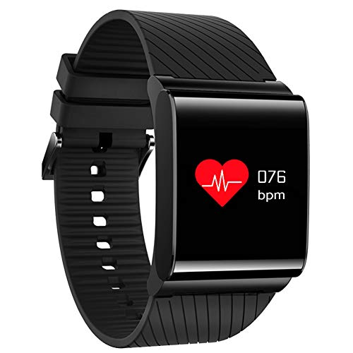 AIBOTY X9pro Touch Color Screen Heart Rate Blood Pressure Monitoring Sports Bluetooth Smart Bracelet,Black by AIBOTY