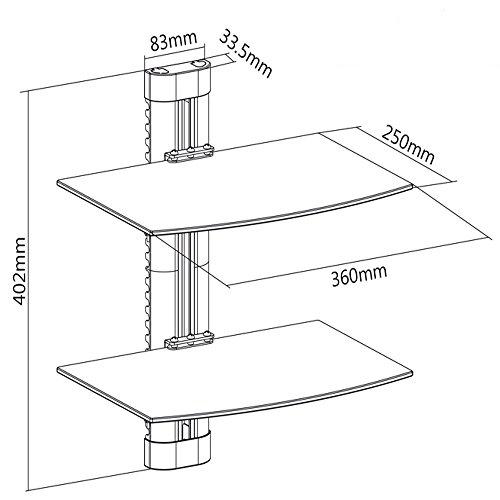 Maclean Mc 662 8 Kg Wall Mount Glass Shelf For Dvd Amazon Co Uk