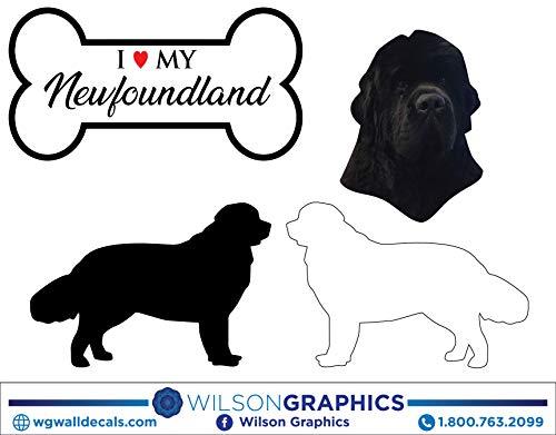 Newfoundland - Dog Breed Decals (Set of 16) - Sizes in Description