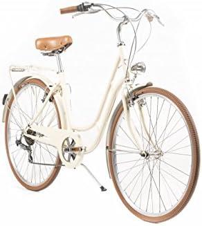 Capri Bicicleta de Paseo Berlin 6 velocidades - Crema: Amazon.es: Deportes y aire libre