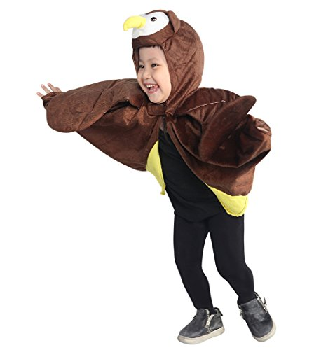 [Fantasy World Boys/Girls Owl Halloween Cape Costume, One Size, An79] (Cute Unique Infant Halloween Costumes)