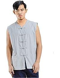 Kung Fu Uniform Vest - Chinese Traditional Qi Gong Martial Arts Wing Chun Shaolin Tai Chi Training Cloths Apparel