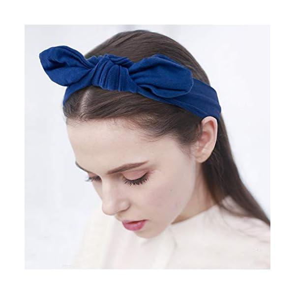 habibee 8 Pcs Headbands for Women Elastic Headbands Boho Knot Turban Hairband Fashion Retro Hair Accessories