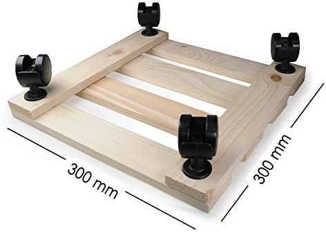 Planta Roller de madera, 2 unidades, 30 cm x 30 cm rectangular con ...