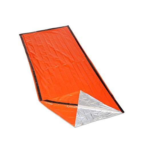 Islandse1PC Outdoor First-Aid Survival Emergency Tent Blanket Sleep Bag Camping Shelter Yellow
