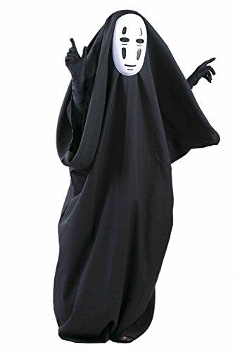 [Xcoser Unisex No Face Black Costume Large] (Spirited Away No Face Costume)