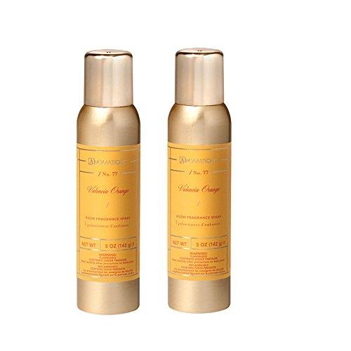 Two  Aromatique 5 Ounce Room Fragrance Sprays - Valencia Ora