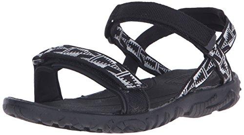 Teva Nova Fashion Sandal (Little Kid/Big Kid), Black/White-T, 11 M US Little Kid (Teva Sandals Kids compare prices)