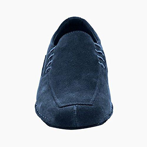 50 Shades Of Mens Flachen Tanz Kleid Schuhe Sammlung (Größe 6.5-13): Komfort Ballsaal, Standard, glatt, Latein, Salsa, Kunst von Party Party 102bxx Blaues Wildleder