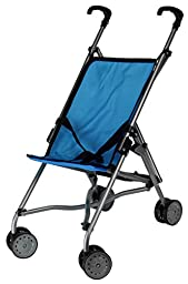 Umbrella Blue Doll Stroller Blue with Swiveling Front Wheels