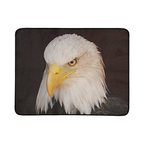 Electric Chair Wheelchair Costume (American Bald Eagle Portable Foldable Beach Mat Picnic Blanket 60x78 Inches)
