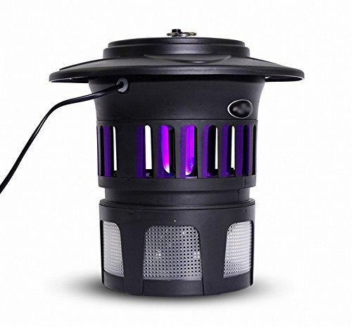 DIDIDD Medium Mosquito Killer Household No Radiation Mute Restaurant Restaurant Flies Repellent Mosquito Insect Killer Ied,Black