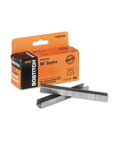 Stanley Bostitch - B8 Powercrown Staples, 3/8 Inch Leg Length - 5,000 Pack(Pack of 2)