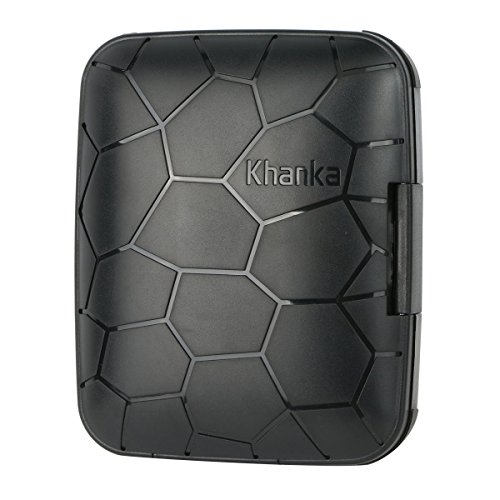 [Upgraded] Khanka Plastic Nomad Rugged Protective Bag Case for Western Digital 1TB My Passport Ultra USB 3.0 Portable External Hard Drive - Black (For WD 1TB Only)