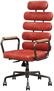 Major Q 9092109 42 H Industrial Style Vintage Red Top Grain Leather Metal Frame Executive Office Chair Casters Buy Online At Best Price In Uae Amazon Ae