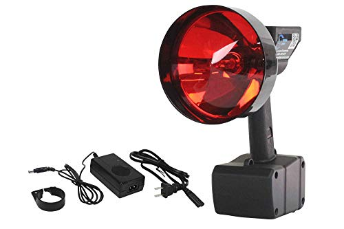 Larson Electronics Rechargeable 15 Million Candlepower 35W HID Spotlight with 5 Inch Red Lens