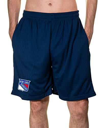 Calhoun NHL Men's Team Logo Air Mesh Shorts (New York Rangers, -
