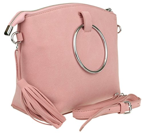 Sac Girly à porter l'épaule à pour Handbags Rose femme r5IFrw