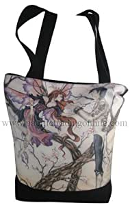 TEMPTATIONS DESIGNER TOTE BAG W/ ZIPPER BY AMY BROWN