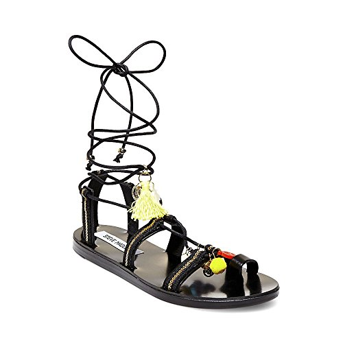Steve Madden Women's Cailin Gladiator Sandal, Black/Multi, 7 M US