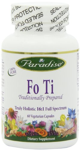 Paradise Herbs Fo Ti Traditionally Prepared Vegetarian Capsules, 60 Count