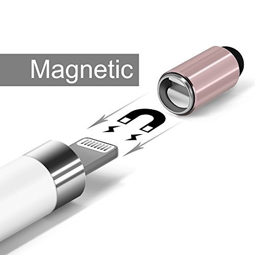 iMangoo [2 Pack] Apple Pencil Cap Magnetic Cap Replacement with Touch Screen Stylus Caps for iPad Pro 10.5'' 12.9'' 9.7'' Apple Pencil for Tablet iPad iPhone Cell Phones